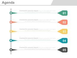 five_staged_vertical_timeline_agenda_analysis_powerpoint_slides_Slide01