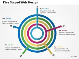 Five Staged Web Flat Powerpoint Design