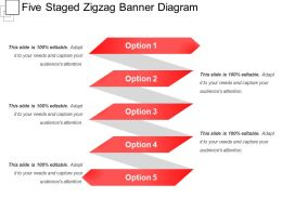 Five Staged Zigzag Banner Diagram