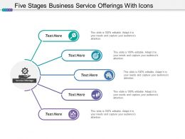 Five Stages Business Service Offerings With Icons
