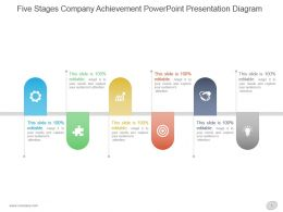 Five Stages Company Achievement Powerpoint Presentation Diagram