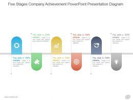 Five Stages Company Achievement Powerpoint Presentation Diagram