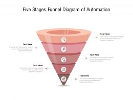 Five Stages Funnel Diagram Of Automation