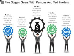 Five Stages Gears With Persons And Text Holders