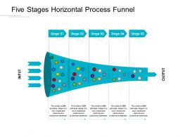 Five Stages Horizontal Process Funnel