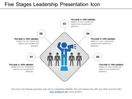 Five Stages Leadership Presentation Icon