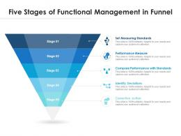 Five Stages Of Functional Management In Funnel