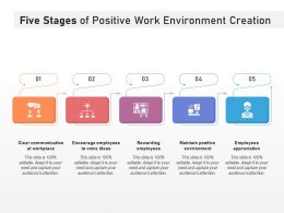 Five Stages Of Positive Work Environment Creation