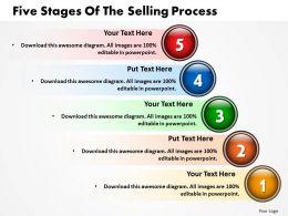 Five Stages Of The Selling Process Powerpoint Templates ppt presentation slides 812