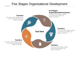 Five Stages Organizational Development Ppt Powerpoint Presentation Show Visual Aids Cpb