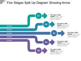 five_stages_split_up_diagram_showing_arrow_Slide01