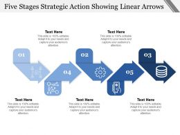 Five Stages Strategic Action Showing Linear Arrows