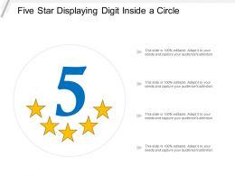 Five Star Displaying Digit Inside A Circle