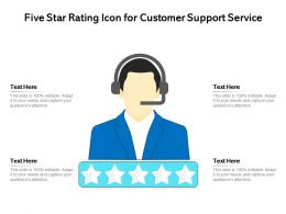 Five Star Rating Icon For Customer Support Service