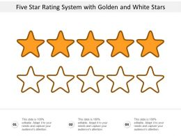 Five Star Rating System With Golden And White Stars