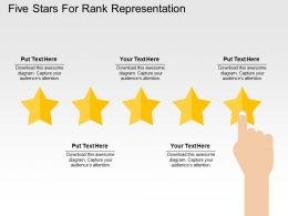 Five Stars For Rank Representation Flat Powerpoint Design