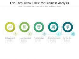 Five Step Arrow Circle For Business Analysis