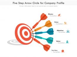 Five Step Arrow Circle For Company Profile