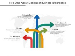 Five Step Arrow Designs Of Business Infographic