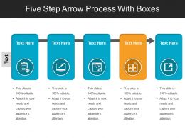 Five Step Arrow Process With Boxes