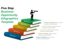 Five Step Business Opportunity Infographics Template