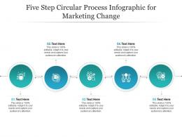 Five Step Circular Process For Marketing Change Infographic Template