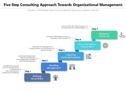Five Step Consulting Approach Towards Organizational Management