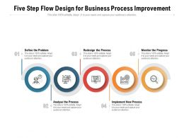 Five Step Flow Design For Business Process Improvement