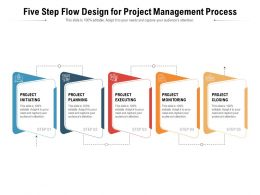Five Step Flow Design For Project Management Process