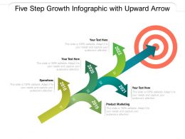 Five Step Growth Infographic With Upward Arrow