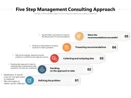 Five Step Management Consulting Approach