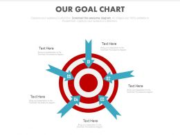 Five Step Our Goal Chart Powerpoint Slides