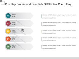 Five Step Process And Essentials Of Effective Controlling Powerpoint Slide Rules