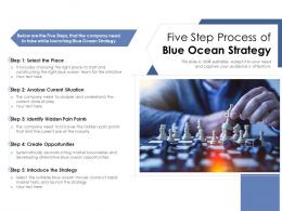 Five Step Process Of Blue Ocean Strategy