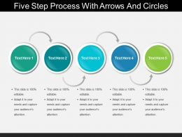 Five Step Process With Arrows And Circles