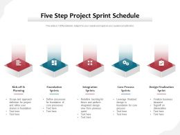 Five Step Project Sprint Schedule
