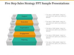 Five Step Sales Strategy Ppt Sample Presentations