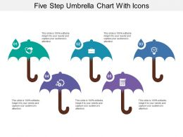 Five Step Umbrella Chart With Icons