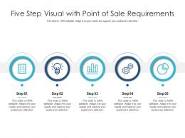 Five Step Visual With Point Of Sale Requirements Infographic Template