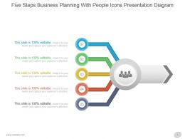 Five Steps Business Planning With People Icons Presentation Diagram