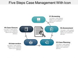 Five Steps Case Management With Icon