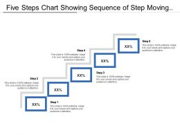 Five Steps Chart Showing Sequence Of Step Moving Upward