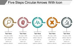Five Steps Circular Arrows With Icon