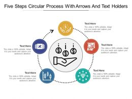 five_steps_circular_process_with_arrows_and_text_holders_Slide01