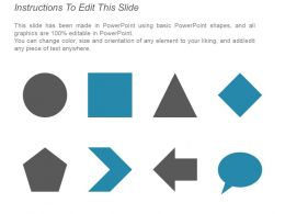 Five Steps Circular Process With Arrows And Text Holders