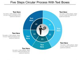 Five Steps Circular Process With Text Boxes