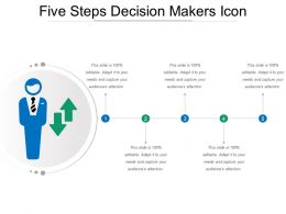 Five Steps Decision Makers Icon