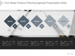 Five Steps Finance Planning Agenda Presentation Slide
