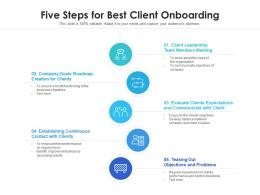 Five Steps For Best Client Onboarding