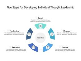 Five Steps For Developing Individual Thought Leadership
